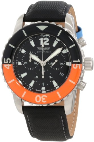 Skywatch Men's CCI018 Chronograph Classic Analog Enamel Bezel Watch