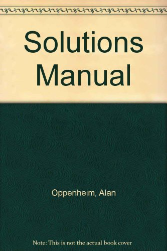 Solutions manual, Signals & systems, 2nd edition