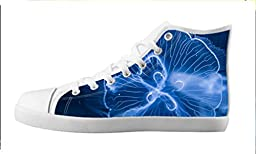 Renben Nonslip Transparent Fish Kids Boy\'s Canvas Shoes Lace-up High-top Sneakers Fashion Running Shoes