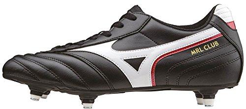 Mizuno Mrl Club Si, Scarpe da Calcio Competizione Uomo, Nero (Black/White/Red), 46 EU