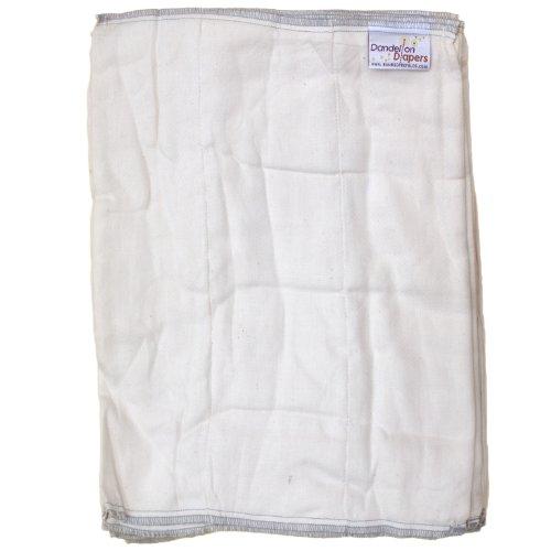 Dandelion Diapers Organic Cotton Blend Prefolds Half Dozen - Size 2