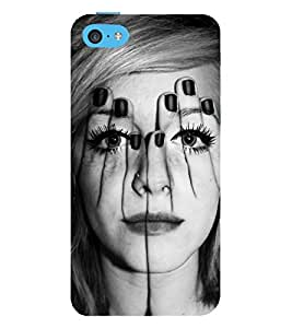 Vizagbeats girl face through hands Back Case Cover for Apple iPhone 6S Plus