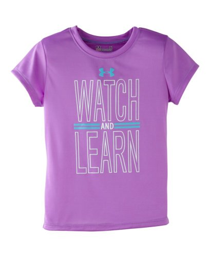 Under Armour Girls' Pre-School Ua Watch And Learn T-Shirt 5 Exotic Bloom front-961240