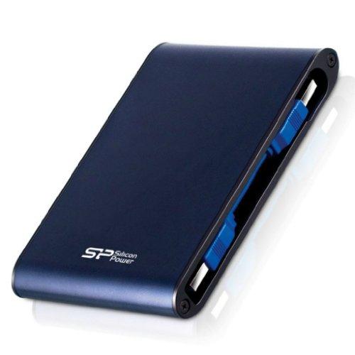 SP シリコンパワー 2.5インチ 2TB USB3.0 Armor A80TV テレビ録画対応 IPX7 防水耐衝撃本体にケーブル収納可能 3年保証ポータブルハードディスクブルー SP020TBPHDA80S3BTV