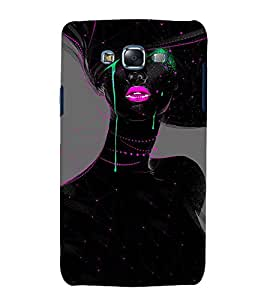 printtech Beautiful Girl Art Abstract Back Case Cover for Samsung Galaxy A8::Samsung Galaxy A8 A800F