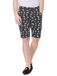 Glasgow Men's Cotton Shorts (NICK434_Black_XX-Large)