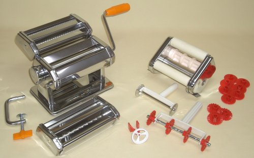 切り巾たくさん製麺機 パスタセット付き(パスタマシーン、ラヴィオリメーカー、パスタバイク等多機能セット)