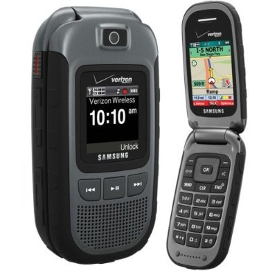 Samsung Convoy U640 For Verizon Wireless, Rugged Flip Cell Phone (Gray)   No