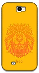 The Racoon Lean Leo hard plastic printed back case / cover for Samsung Galaxy Note 2