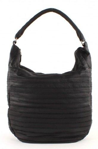 FredsBruder Favorite RIC Gürteltier Shopper Beuteltasche Leder 34 cm black