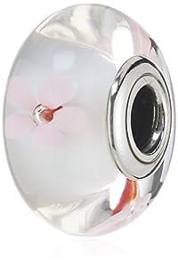 Pandora Damen-Charm 925 Sterling Silber Kirschblüten Muranoglas weiß 790947