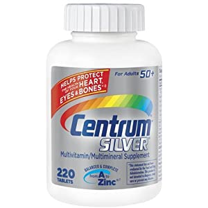 Centrum Silver Multivitamin and Mineral for Adults 50+ (220 Tablets)