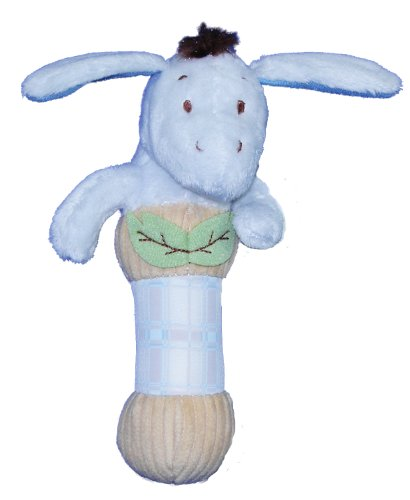 Classic Pooh Plush Stick Baby Rattle - Eeyore