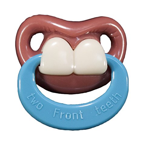 Billy Bob Teeth Binky Two Front Teeth-With Ring Pacifier