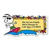 PEANUTS Snoopy Seasons of Fun Diecut Return Address Labels (12 Designs) - Set of 144, Large Self-Adhesive, Flat-Sheet Labels