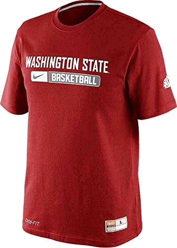 Nike Washington State Cougars Basketball Team Issued Dri-FIT Cotton Mens T-Shirt (Small, Team Crimson Red)