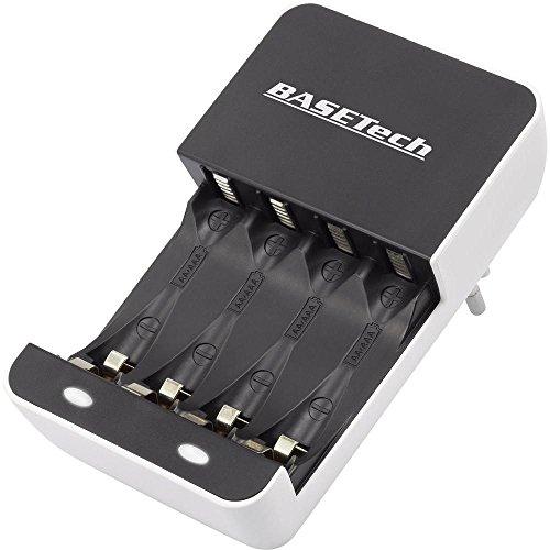 LR03 (AAA), LR6 (AA) Chargeur pour piles rechargeables Basetech BTL-10