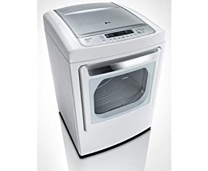 LG DLEY1201W 7.3 Cu. Ft. Ultra-Large Capacity Front-Control Electric Steam Dryer with Sensor Dry - White from LG