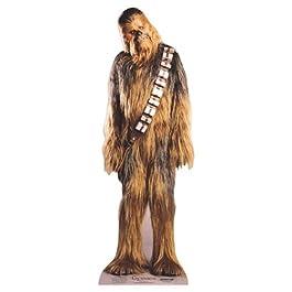Chewbacca de tamaño natural para recortar de cartón