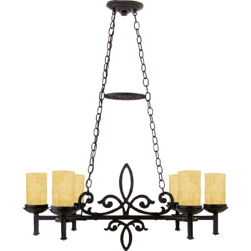 Quoizel LP639IB La Parra 6-Light Island Chandelier, Imperial Bronze