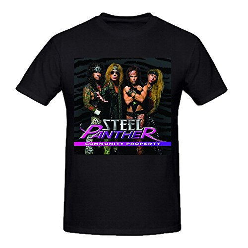 Steel Panther Community Property Mens Funny t shirts O Neck Black