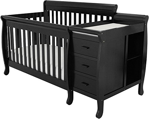 Athena AFG Kimberly 3-in-1 Convertible Crib, Black - 1