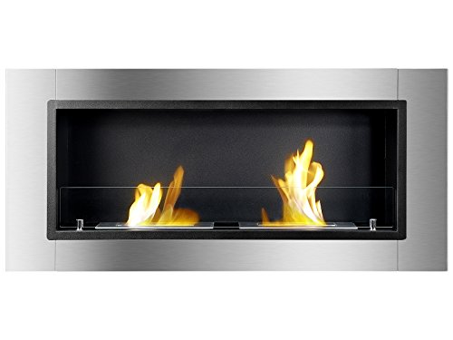 Ignis Lata Recessed Ventless Ethanol Fireplace With Glass