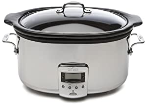 All-Clad 99009 Polished Stainless Steel 6.5-Quart Slow Cooker with Black Ceramic Insert... by All-Clad