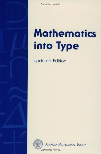 Mathematics into Type (Updated Edition)