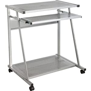metal computer desk trolley with microfibre hsb cleaning. Black Bedroom Furniture Sets. Home Design Ideas