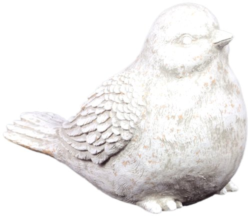 Urban Trends UTC66231 Ceramic Bird Statue, Green/White