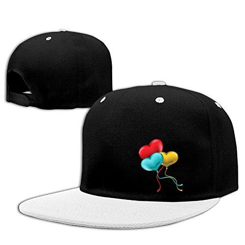 NUBIA 3D Balloon Outdoor Running Cap Snapback Flat Bill Cap White