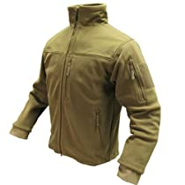 Condor Alpha Tactical Fleece Jacket (Small, Tan)