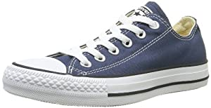 Converse Chuck Taylor All Star Seasonal Ox - Zapatillas de lona unisex, color azul, talla 36