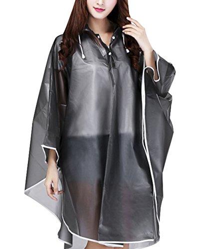 BXT-Femme-Manteau-de-Pluie-Mode-Veste-Impermable-Cape-Femme-Veste-EVA-Environnement-Poncho-Pluie-avec-Capuche-et-Manches-Coupe-Vent-Uni-Rainwear-Outdoor-Waterproof-Poncho-Over-genou-Impermable-Extrieu