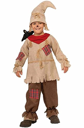 [Cute Scarecrow Costume Child Boys Jumpsuit Stuffed Black Crow Hat Halloween] (Cute Scarecrow Costumes)