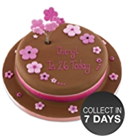 Chocolate & Flowers Cake