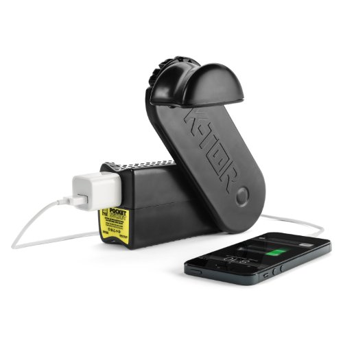 K-Tor 120 Volt 10 Watt Hand Crank Generator, Pocket Socket 2, Charges All Portable Electronics, All Cell Phones Including All Makes of Apple Product