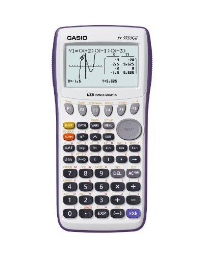 Casio fx-9750GII Graphing Calculator, White