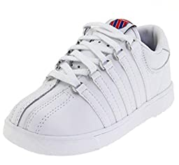 K-Swiss 201 Classic Tennis Shoe (Infant/Toddler),White,7 M US Toddler