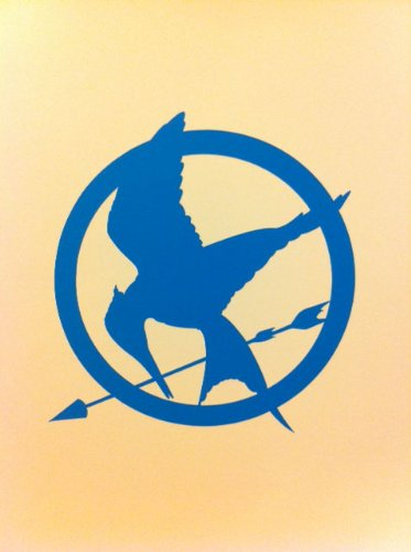 Hunger Games Mocking Jay Sticker Decal Blue
