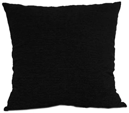 Brentwood 3438 Crown Chenille Floor Cushion, 24-Inch, Black