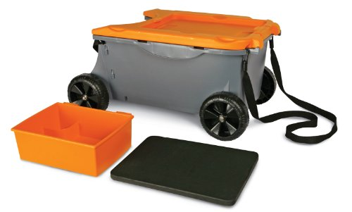 Fiskars 6220 Sit And Store Garden Caddy With Built-In Seat