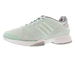 adidas Women\'s adidas by Stella McCartney Barricade W Fresh Aqua/Running White 7 B - Medium