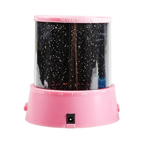 GPCT LED Night Light Stars Projector Lamp Colorful Stars Projection (Pink) - 1
