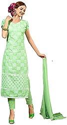 Manmauj Women's Cotton Unstitched Dress Material (MM10043DGRN, Green)