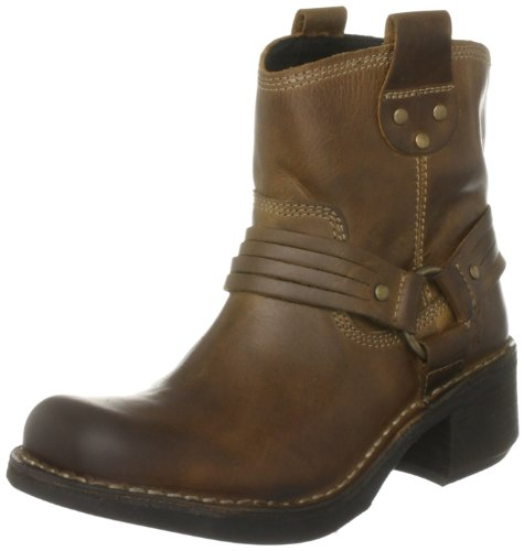 Fly London Women's Flud Camel Biker Boots P210660000 4 UK