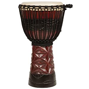 X8 Drums Original Ruby Professional Djembe, Small