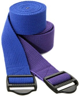 YogaAccessories (TM) 8′ Cinch Buckle Cotton Yoga Strap – Green