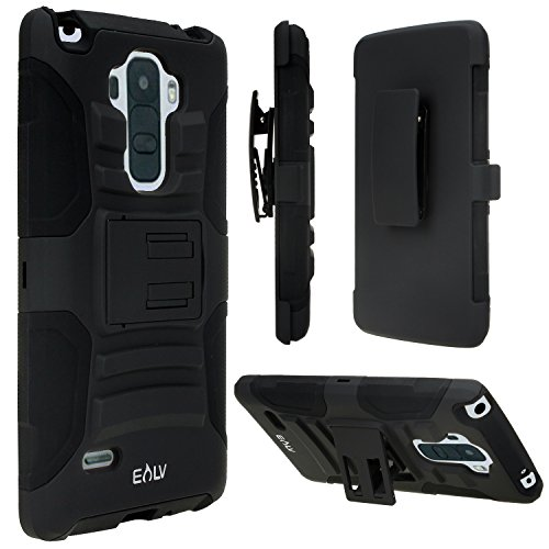 Click to buy LG G Stylo / LG G Stylus (LS770) Case, E LV LG G Stylus Sprint Case - Shock-Absorption / High Impact Resistant Black Dual Layer Armor Holster Defender Full Body Protective Case Cover with Kickstand and Belt Swivel Clip for LG G Stylo / LG G Stylus (LS770) - From only $12.99